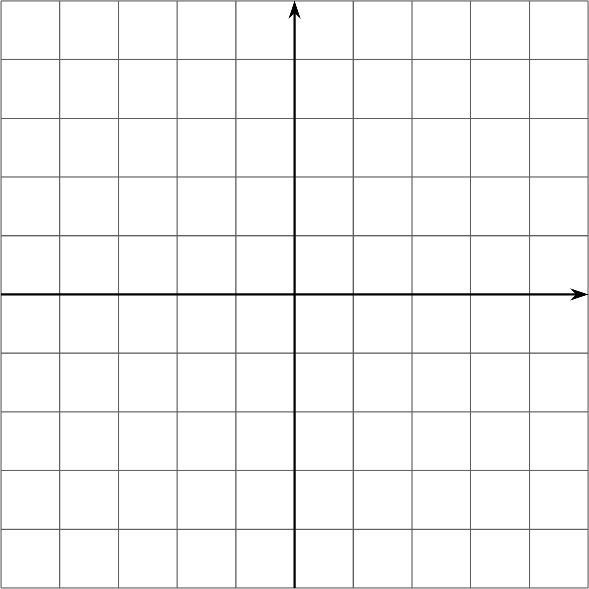 A blank coordinate grid. Both the horizontal axis and vertical axis have 9 evenly spaced units