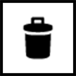 An image of a trash can labeled delete tool.