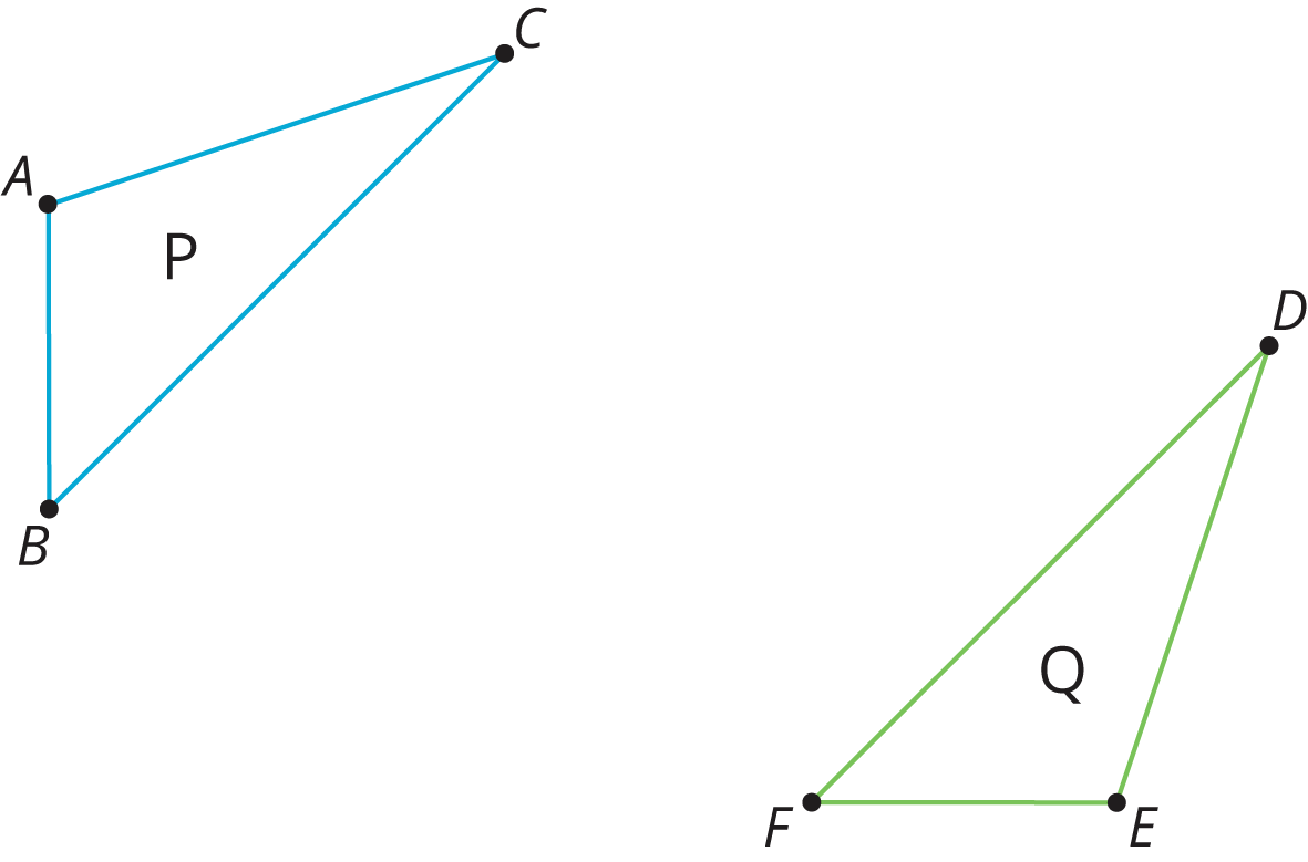 two of the same figure in different orientations and position.