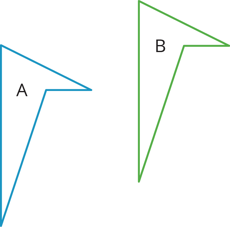 A figure that has been slid or shifted in the plane without turning it