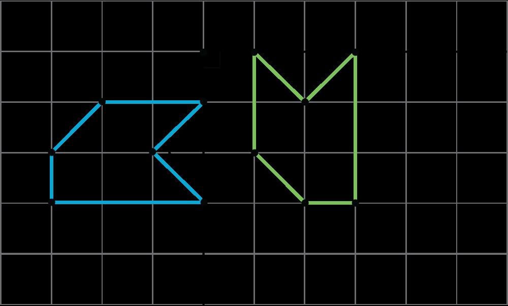 A hexagon A, B, C, D, E, F, and its rotation 90 degrees bout a center, P, to hexagon A prime, B prime, C prime, D prime, E prime, F prime.