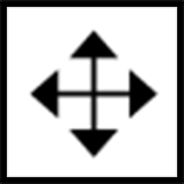 "A ""Move Graphics"" icon with 4 arrows pointing up, down, left, and right."