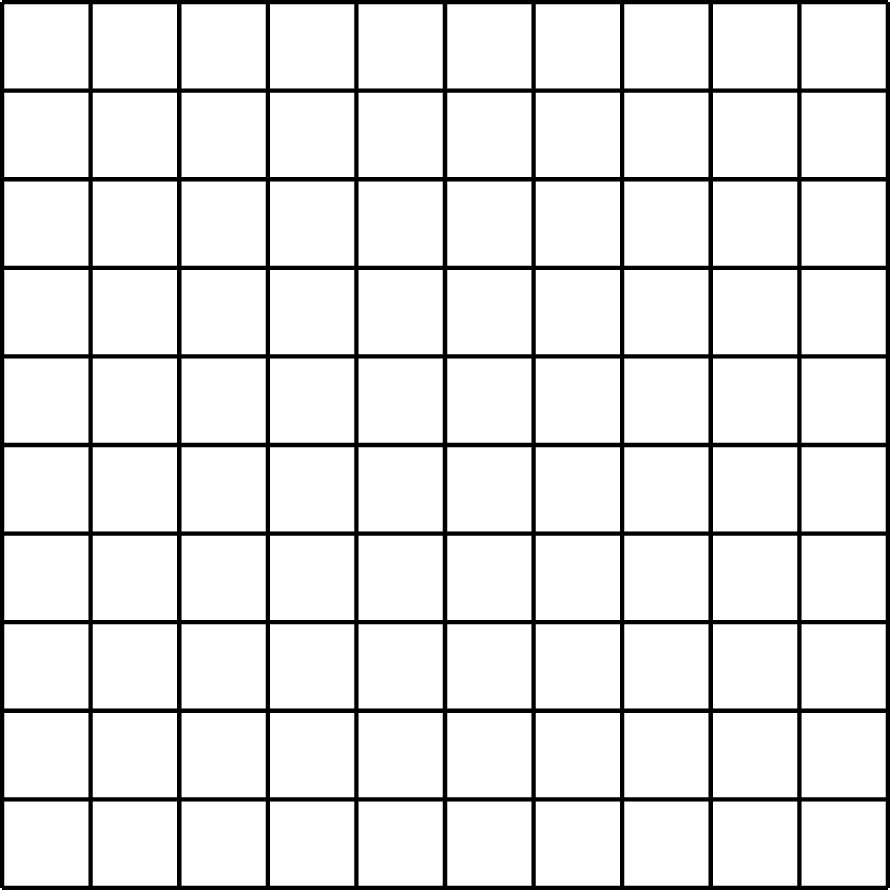 A large square composed of 100 small squares